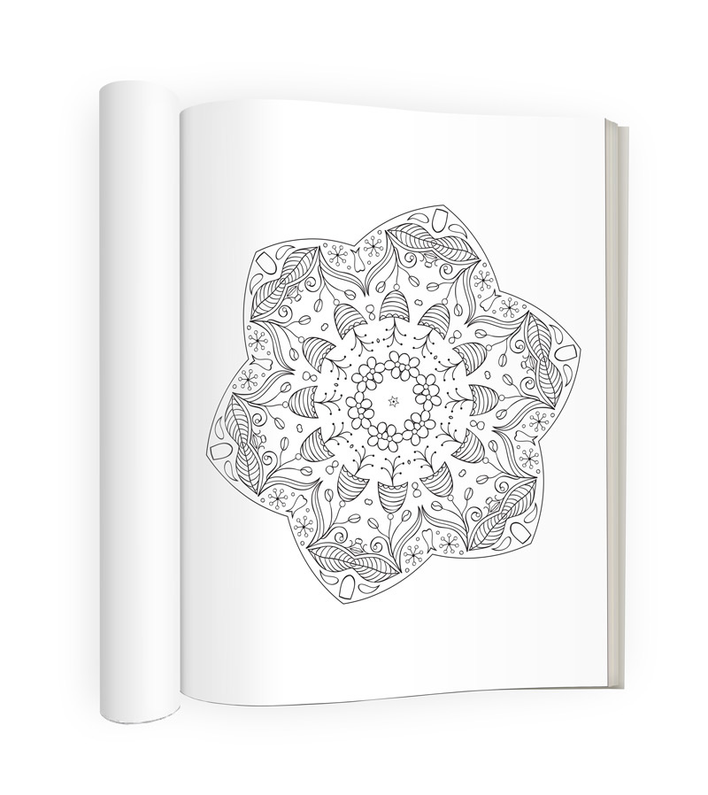 Tranquility Adult Coloring Book Sample Image 1