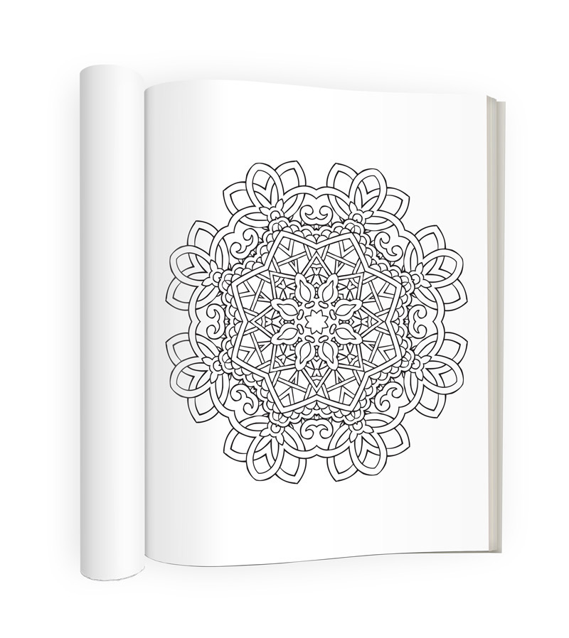 Tranquility Adult Coloring Book Sample Image 2