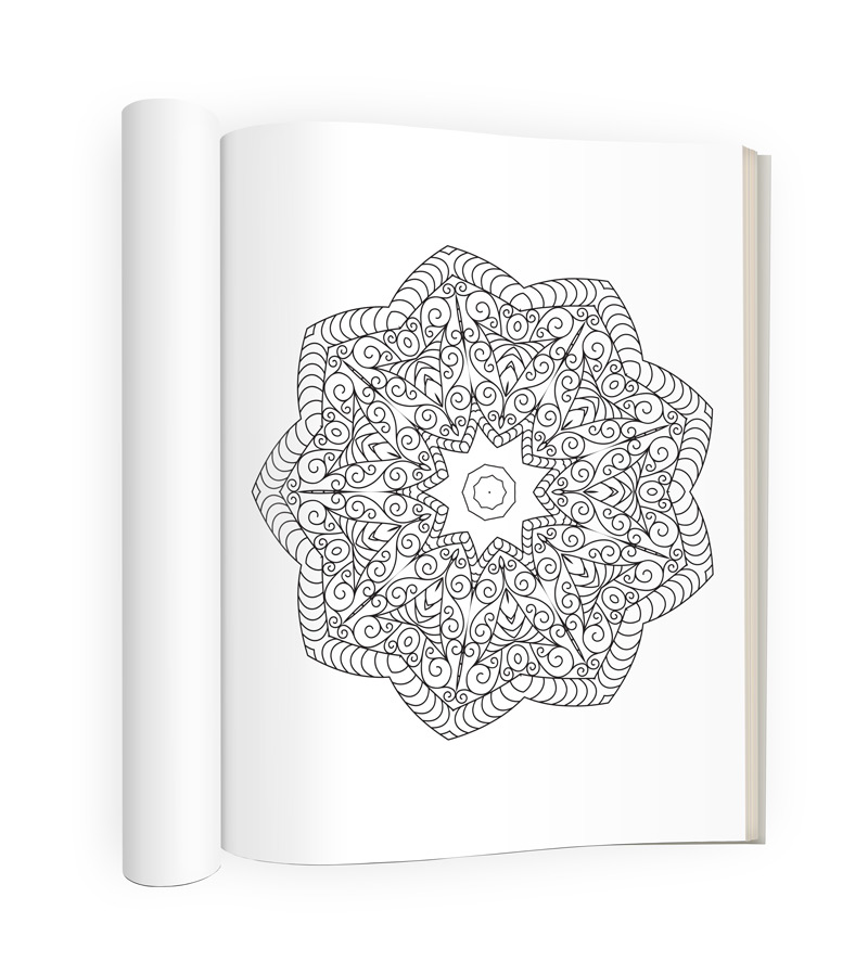 Tranquility Adult Coloring Book Sample Image 3